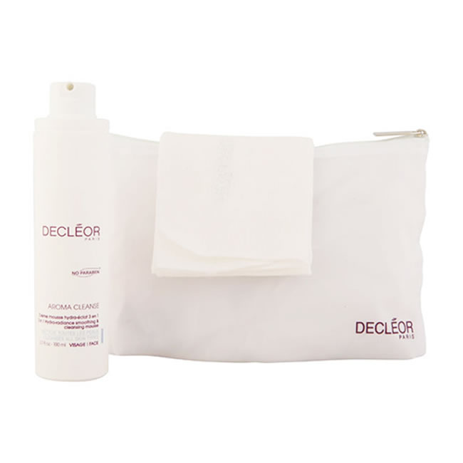 Decleor Hydra-Radiance Smoothing and Cleansing Mousse with Cloth (100ml)