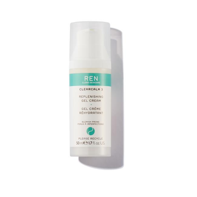 REN Clean Skincare Clearcalm 3 Replenishing Gel Cream (50ml)