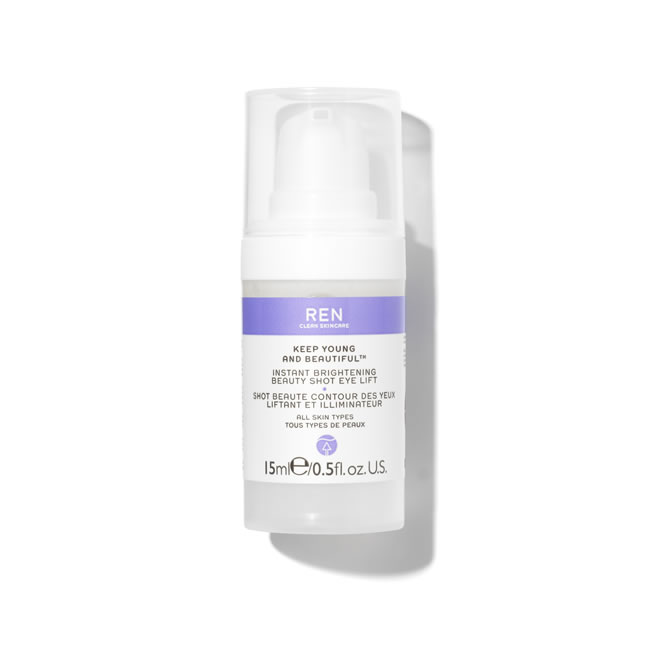 REN Clean Skincare Keep Young And Beautiful Instant Brightening Beauty Shot Eye Lift (15ml)