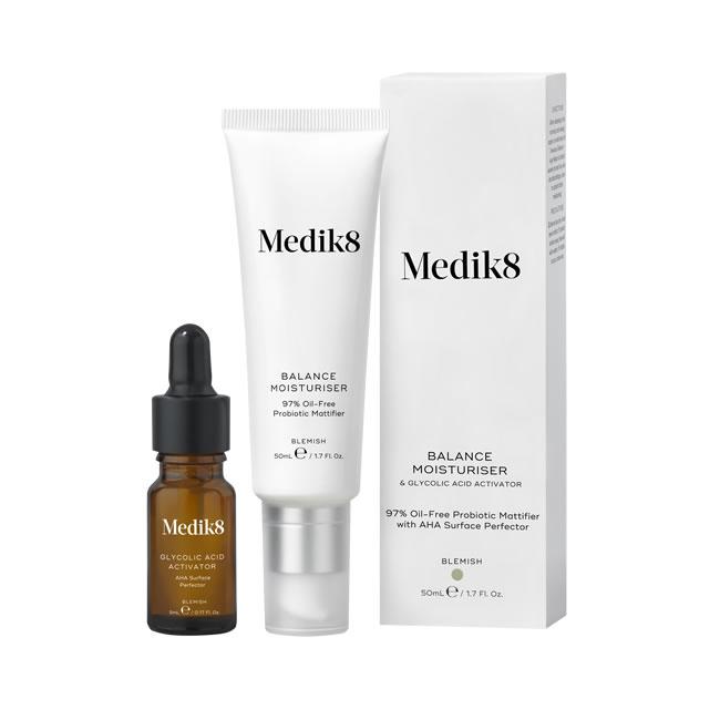 Medik8 Balance Moisturiser and Glycolic Acid Activator (50ml,10ml)