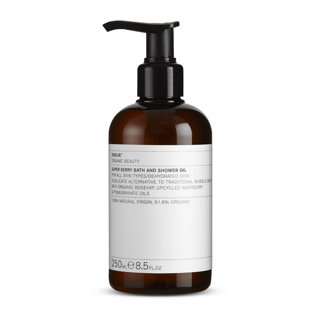 Evolve Organic Beauty Super Berry Bath and Shower Oil (250ml)