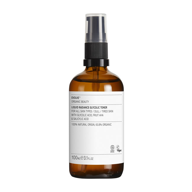 Evolve Organic Beauty Liquid Radiance Glycolic Toner (100ml)
