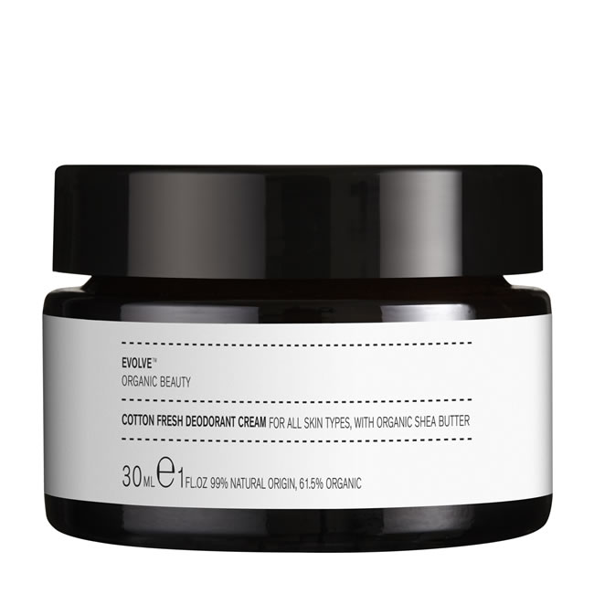Evolve Organic Beauty Cotton Fresh Deodorant Cream (30ml)