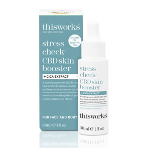 This Works Stress Check CBD Skin Booster + Cica Extract (30ml)
