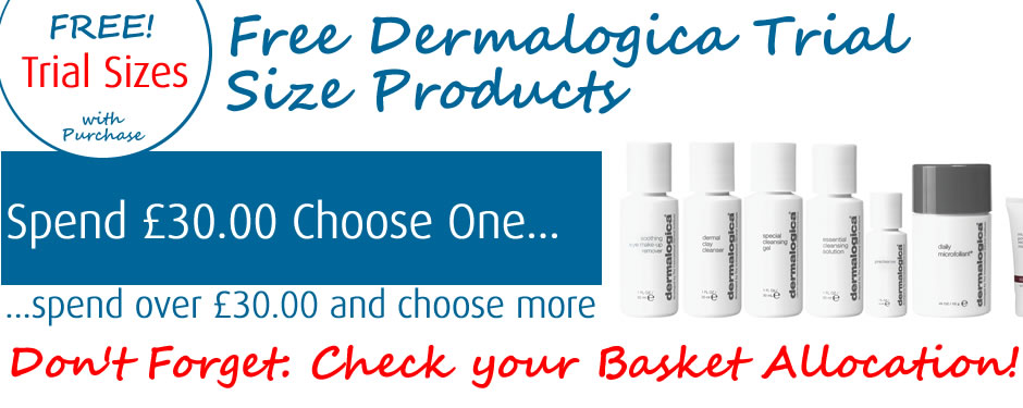 Free Dermalogica Trial Sizes with Purchase