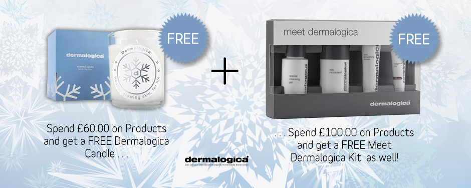 Free Candle and Free Meet Dermalogica Kit