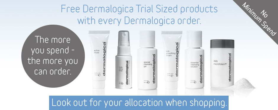 Free Dermalogica Trial Sizes