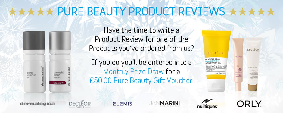 Pure Beauty Product Reviews and Prize Draw
